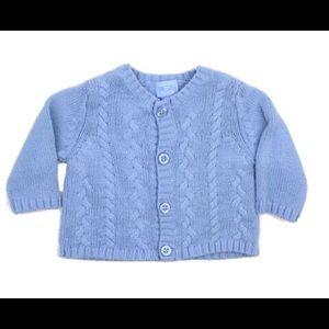 Infant Boy Cable Knit Cardigan, Size 0-3 M